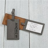 Bold Style Personalized Bag Tag- Charcoal - 18119-G