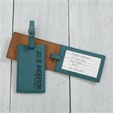 Bold Style Personalized Bag Tag- Teal - 18119-T