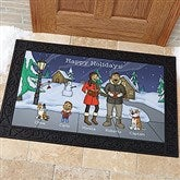 Caroling Family Characters Personalized Doormat- 20x35 - 18134-M