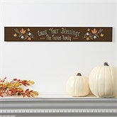 Count Your Blessings Personalized Wooden Sign - 18137