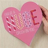 HUGE Crush On You Personalized Oversized Heart Greeting Card - 18142