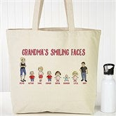 Grandchildren Character Collection Personalized Canvas Tote Bag - 18147