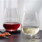 Luigi Bormioli® Personalized 21oz. Stemless Wine Glass- Name - 18155-SN