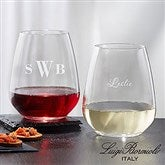 Luigi Bormioli® Personalized 21oz. Stemless Wine Glass - 18155-SM