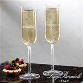 Luigi Bormioli® Classic Celebrations Personalized Champagne Glass- Name - 18160-N