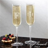 Luigi Bormioli® Classic Celebrations Personalized Champagne Glass- Monogram - 18160-M
