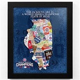 Chicago Cubs World Champions State of Mind Personalized Framed Sports Print - 18175D