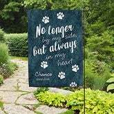 Paw Prints On My Heart Personalized Garden Flag - 18202