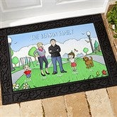 Our Family Characters Personalized Doormat- 18x27 - 18208