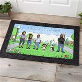 Our Family Characters Personalized Doormat- 20x35 - 18208-M