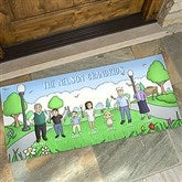 Our Family Characters Personalized Oversized Doormat- 24x48 - 18208-O