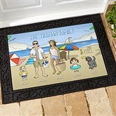 Summer Fun Family Characters Personalized Doormat- 18x27 - 18209