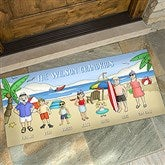 Summer Fun Family Characters Personalized Oversized Doormat- 24x48 - 18209-O