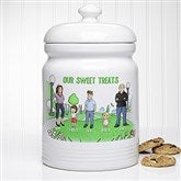Our Family Characters Personalized Cookie Jar - 18210