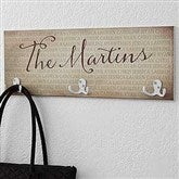 Together Forever Personalized Coat Rack - 18228