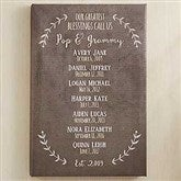 Our Grandchildren Personalized Canvas Print- 16