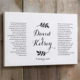 Wedding Vows Personalized Canvas Print- 12