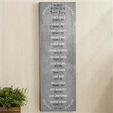 Our Grandchildren Personalized Long Canvas Print- 12