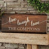 Live, Laugh, Love Personalized Basswood Planks-Large - 18243-L