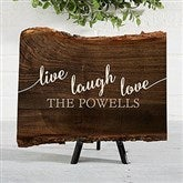 Live, Laugh, Love Personalized Basswood Planks-Small - 18243-S