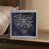 Close To Her Heart Personalized LED Light Shadow Box- 6