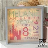 Sweet Baby Girl Personalized LED Light Shadow Box- 10