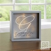 Initial Accent Personalized LED Light Shadow Box- 6