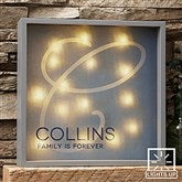Initial Accent Personalized LED Light Shadow Box- 10