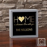HOME With You Personalized LED Light Shadow Box- 6