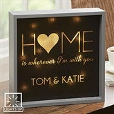 HOME With You Personalized LED Light Shadow Box- 10