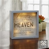 Heaven In Our Home Personalized LED Light Shadow Box- 6