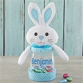 Easter Bunny Personalized Candy Jar- Blue - 18273-B