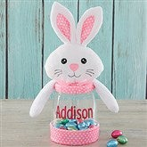 Easter Bunny Personalized Candy Jar- Pink - 18273-P