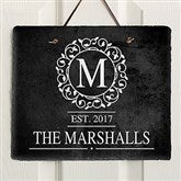 Circle & Vine Personalized Slate Plaque - 18277