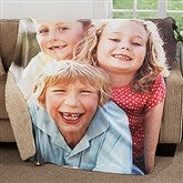 Picture Perfect Personalized Premium 50x60 Sherpa Photo Blanket - 18281