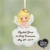 First Holy Communion Precious Moments® Personalized Keepsake Ornament- Girl - 18306-G