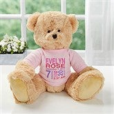 Baby's Birthday Personalized Teddy Bear For Baby Girl- Pink - 18307-P