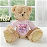 All About Baby Personalized Teddy Bear For Baby Girl- Pink - 18307-P