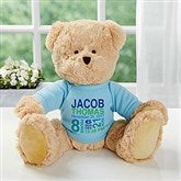 Baby's Birthday Personalized Teddy Bear For Baby Boy- Blue - 18307-B