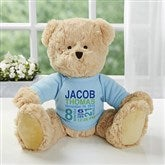 All About Baby Personalized Teddy Bear For Baby Boy- Blue - 18307-B