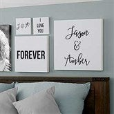 Write Your Own Romantic Expressions Personalized Canvas Print- 8