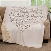 Loving Heart Personalized Premium 60x80 Sherpa Blanket - 18316-L