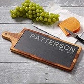 Rustic Family Personalized Slate & Wood Paddle Board - 18319