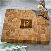 Personalized Classic Butcher Block Cutting Board-Monogram - 18335-M