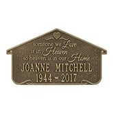 Heavenly Home Personalized Aluminum Memorial Wall Plaque - 18352D-W
