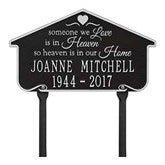 Heavenly Home Personalized Aluminum Memorial Lawn Plaque - 18352D-L