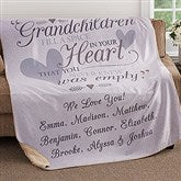Grandparents Personalized Premium 50x60 Sherpa Blanket - 18354