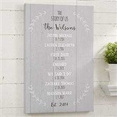 The Story Of Us Personalized Canvas Print- 20