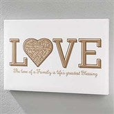 Close To Her Heart Personalized Horizontal Canvas Print- 16