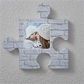 Personalized Photo Puzzle Piece Wall Décor- Brick & Stone Textures. - 18368